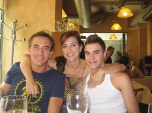 Javier, Eva y David.