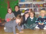 Niños y Amaia, en al Hada.